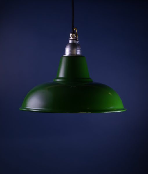 Green Enamel Wall Lights : Green Enamel Pendant Light Morley Industrial Ceiling Light