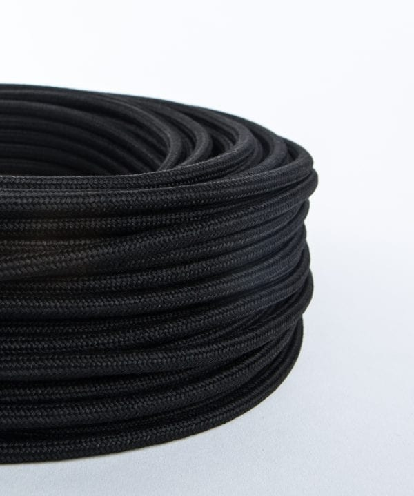 chalkboard black fabric cable