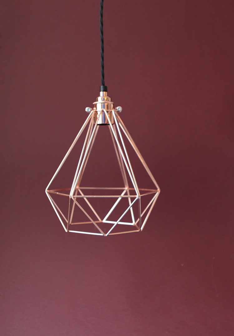 copper light bulb holder
