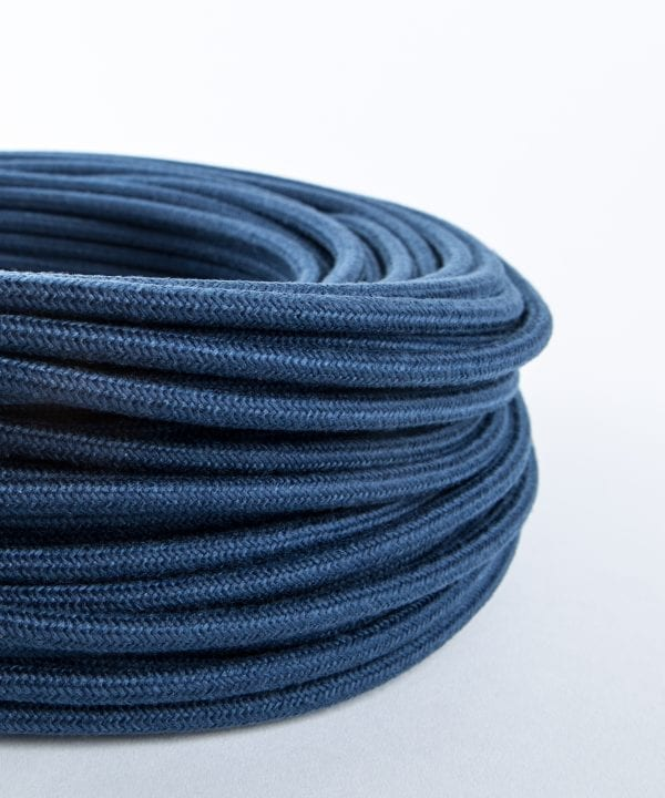 denim blue fabric cable