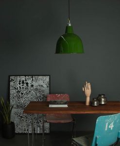 industrial style lighting enamel shade