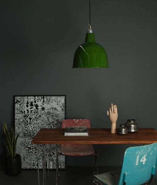 industrial style lighting enamel shade