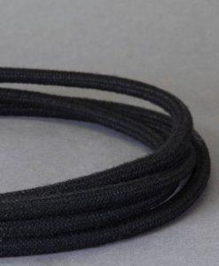 matt black fabric cable