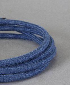 matt blue fabric cable