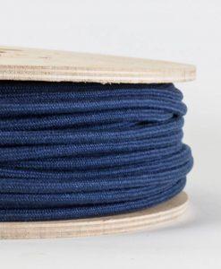 fabric lighting cable matt blue