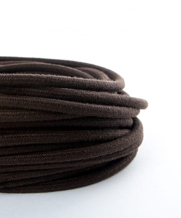 oak barrel brown fabric cable