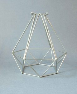 Cage Light Shade Diamond Silver
