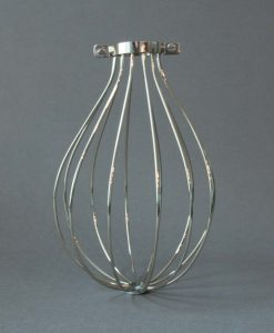 Cage Light Shade Balloon Silver Chrome