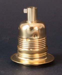 E27 polished brass lamp socket