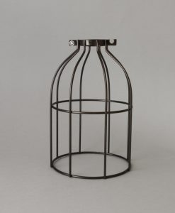 Industrial antique light cage