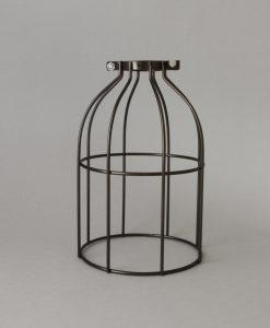 Industrial antique light cage