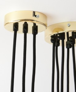 Gold Multi Outlet Ceiling Rose For 2-9 Cables Fool's Gold