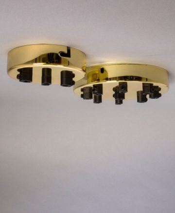 Gold multi outlet ceiling rose