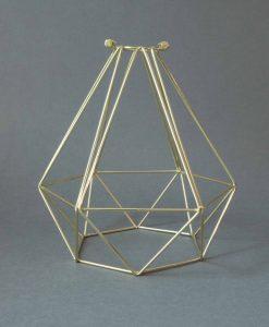 Cage Light Shade Diamond Gold