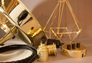 gold and black lighting accessories