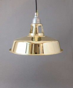 Metal Pendant Light Gold - Industrial Factory Style