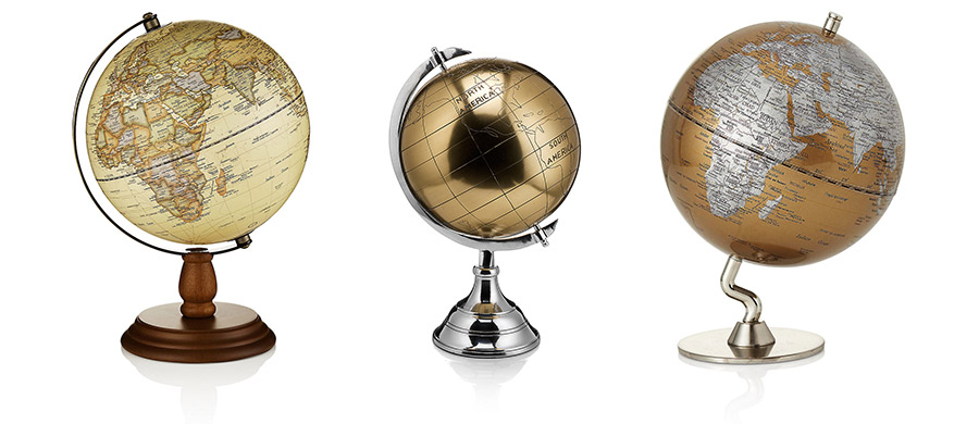 spinning globes