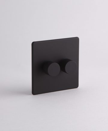 designer dimmer switch double black