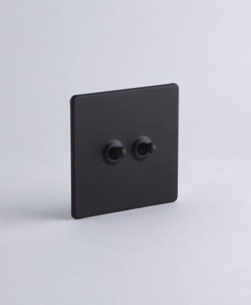 toggle light switch 2 toggle black