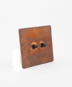 Toggle Light Switch 2 Toggle Copper & Black