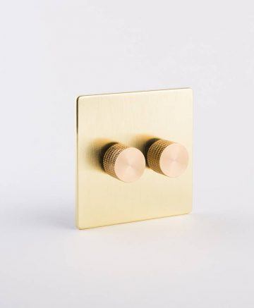 designer dimmer switch double gold