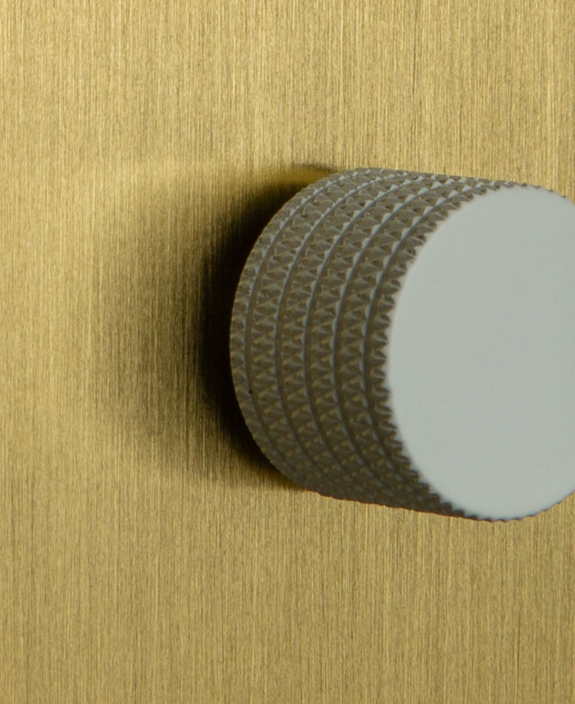 Single Gold Dimmer Switch with Knurled White Knob