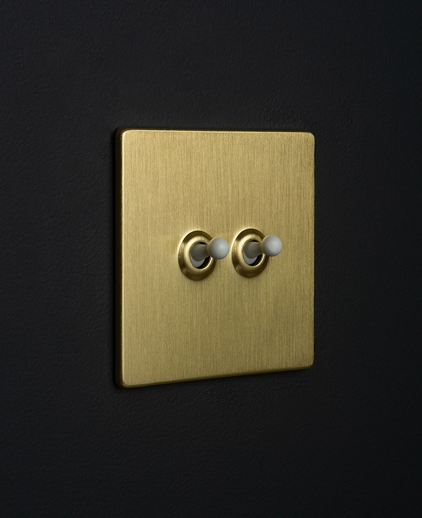 Gold Double Toggle White Toggles