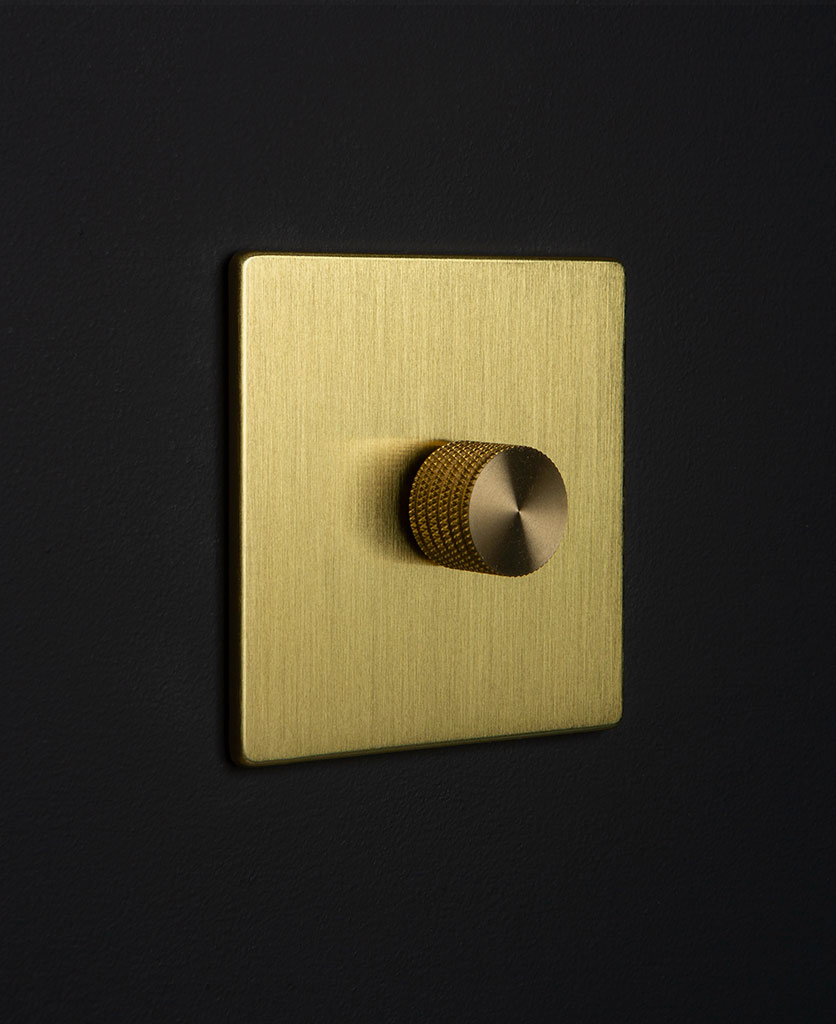 gold & gold single dimmer