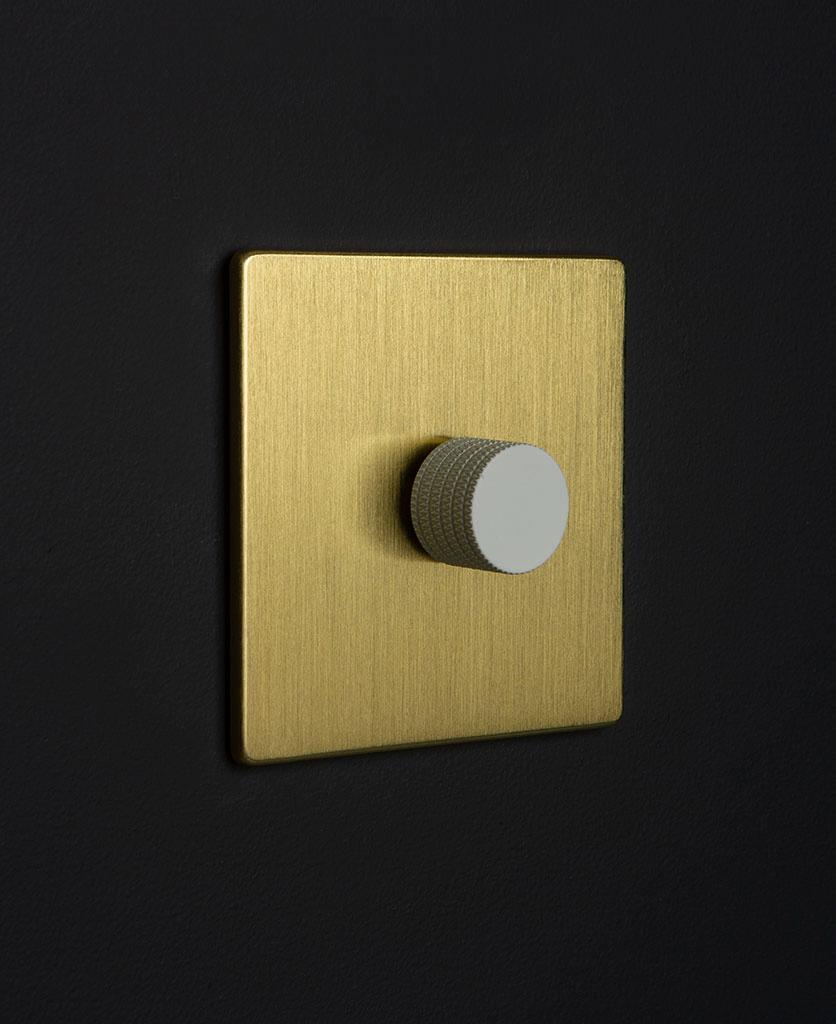 gold & white single dimmer