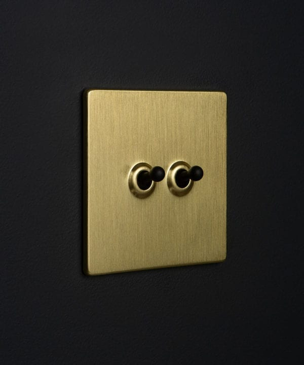 Gold Double Toggle Black Toggles