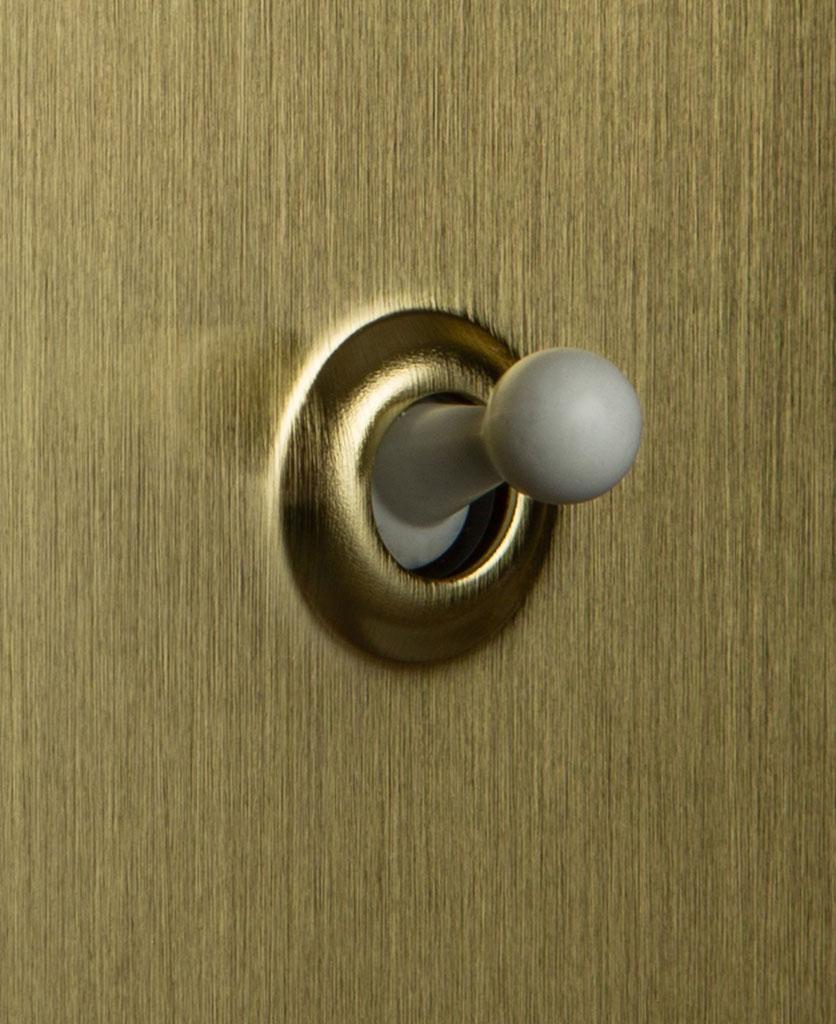 Gold Single Toggle Switch White Toggle