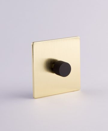 designer dimmer switch single gold & black