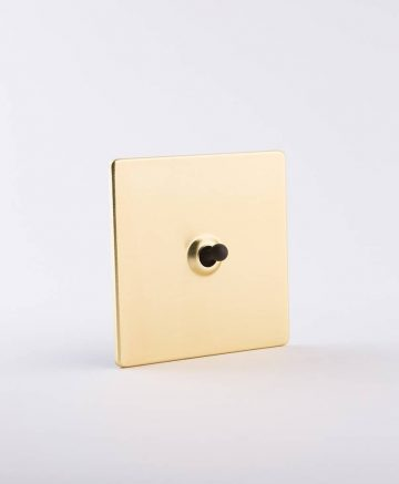 toggle light switch 1 toggle gold & black