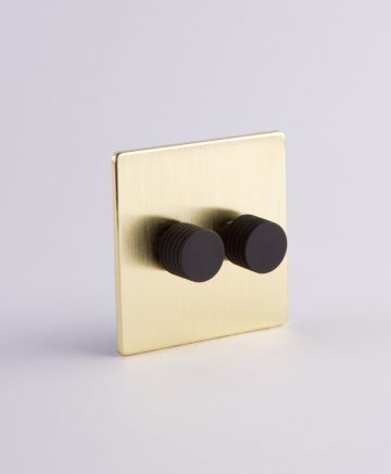 designer dimmer switch double gold & black