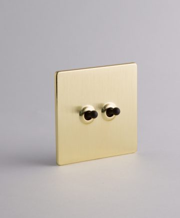 Toggle Light Switch 2 Toggle Gold & black