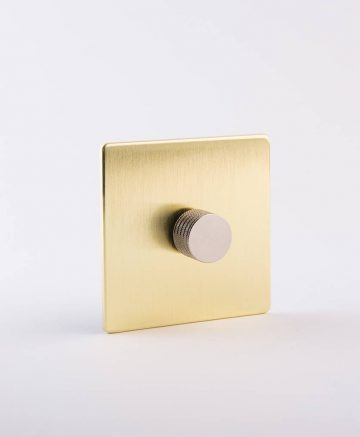 designer dimmer switch single gold & silver