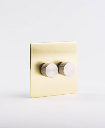 designer dimmer switch double gold & silver