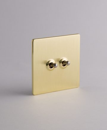 toggle light switch 2 toggle gold & silver