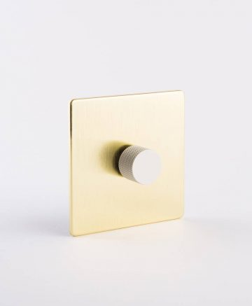 designer dimmer switch single gold & white