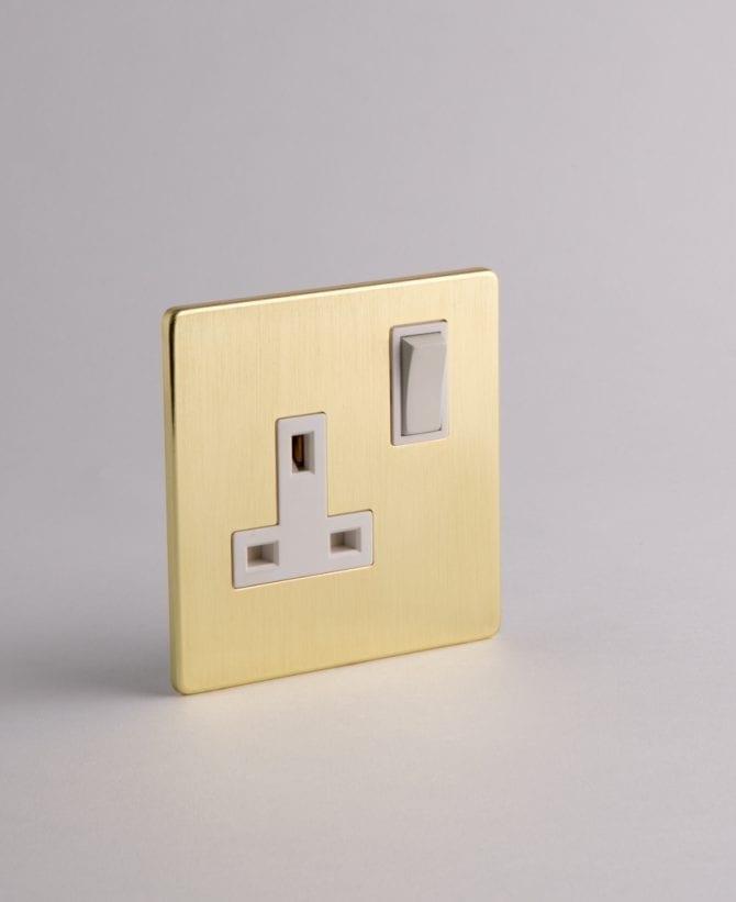 1 gang gold plug socket