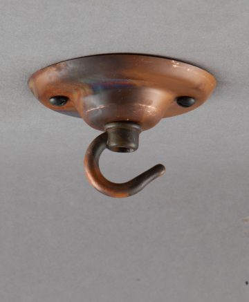 hooked tarnished copper ceiling rose
