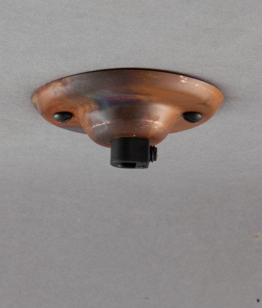 tarnished copper ceiling rose