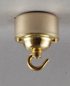 Conduit Box Ceiling Rose Hooked Gold