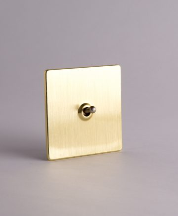 Toggle Light Switch 1 Toggle Gold & silver