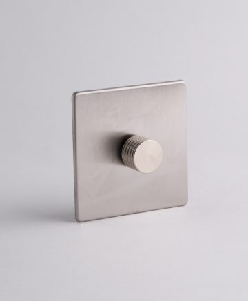 designer dimmer switch single silver