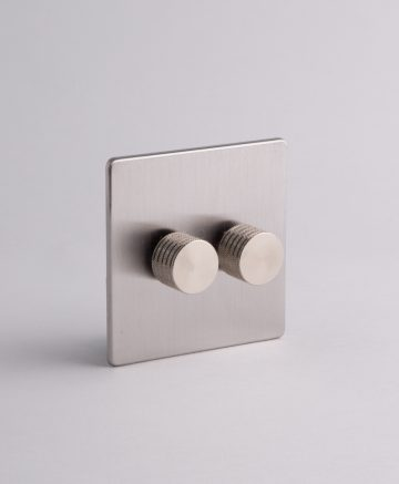 designer dimmer switch double silver standard