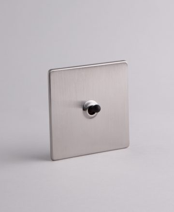 toggle light switch 1 toggle silver & black