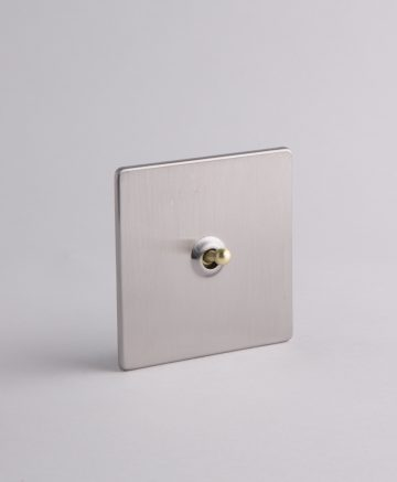 toggle light switch 1 toggle silver & gold