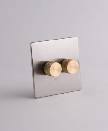 designer dimmer switch double silver & gold standard