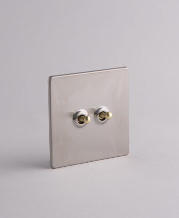 toggle light switch 2 toggle silver & gold
